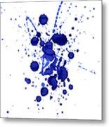 Violet Splashes Metal Print
