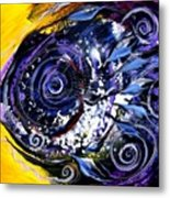 Violet Tri Fish Metal Print