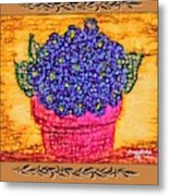 Violets Are  Blue  Metal Print