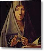 Virgin Annunciate By Messina Metal Print