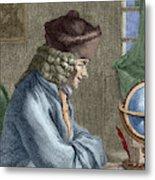 Voltaire In His Office In Vernay Metal Print