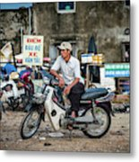 Waiting At The Fish Market, Hoi An, Vietnam Metal Print