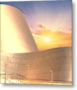 Wall Disney Concert Hall At Sunset Metal Print