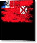 Wallis Futuna Shirt Gift Country Flag Patriotic Travel Oceania Light Metal Print