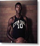 Walt Dukes Holding Basketball Metal Print