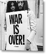 War Is Over Metal Print