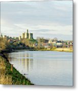 Warkworth Castle And River Aln Metal Print