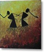 Warli Painting Metal Print