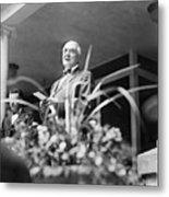 Warren Harding Giving Speech Metal Print