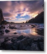 Washington Coast Skies Blue Clarity Metal Print