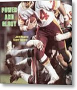 Washington Redskins John Riggins, Super Bowl Xvii Sports Illustrated Cover Metal Print