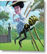 Wasp Woman Insect Drinking Tea Fantasy Metal Print