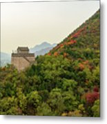 Watch Tower, Great Wall Of China Metal Print