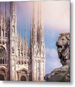 Watching Over The Duomo Milan Italy  Metal Print