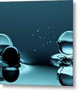 Water Balls Metal Print