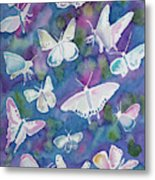Watercolor - Butterfly Design Metal Print
