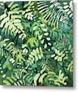 Watercolor - Rainforest Canopy Design Metal Print