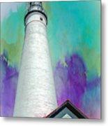 Watercolor Sky Lighthouse Metal Print