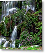 Waterfalls At Seven Star Park Metal Print