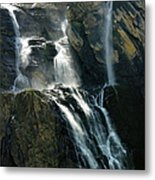 Waterfalls At The Cirque De Gavarnie Metal Print