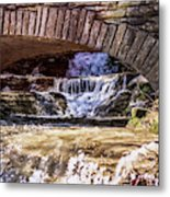 Waterfalls Through Stone Bridge Metal Print