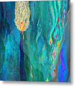 Watery Abstract Xviii - Women And Candles Metal Print