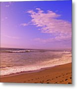 Waves On The Beach, North Beach, Point Metal Print