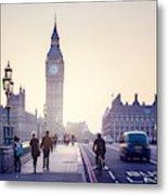 Westminster Bridge At Sunset, London, Uk Metal Print