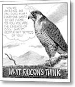 What Falcons Think Metal Print