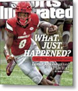 What. Just. Happened Lamar Jackson Arrived, Thats What Sports Illustrated Cover Metal Print