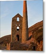 Wheal Coates Mine Chapel Porth Cornwall Metal Print