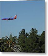 Wheels Down Metal Print