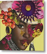 When African Eyes Are Smiling Metal Print