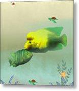 Whimsical Fish Metal Print