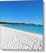 Whitehaven Beach On Whitsunday Island Metal Print