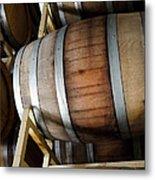Wi E Barrel Aging Room At Winery Metal Print