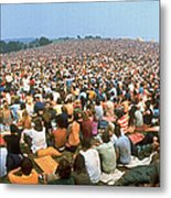 Wide-angle Pic Of Seated Crowd Listening Metal Print