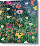 Wildflowers 2- Art By Linda Woods Metal Print