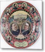 William-taft Election Souvenir Plate Metal Print
