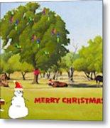 Wimberley Pastoral Christmas Card Metal Print