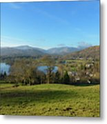 Windermere With Loughrigg Fell And The Langdales From Ambleside Metal Print