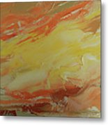 Winged Horse In The Sky Metal Print