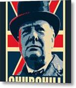 Winston Churchill Propaganda Metal Print