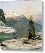 Winter At The Sognefjord - Digital Remastered Edition Metal Print