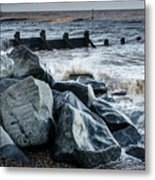 Winter By The Sea Metal Print
