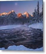 Winter Canadian Rockies Metal Print