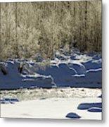 Winter Stream Near Hope On The Kenai Peninsula Alaska Metal Print