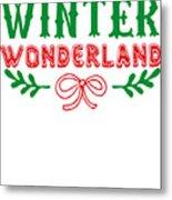 Winter Wonderland Christmas Secret Santa Snowing On Christmas Metal Print