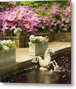 Winterthur Spring Pond Metal Print