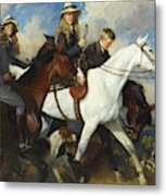 With The York And Ainsty, The Children Of Mr Edward Lycett Green Metal Print